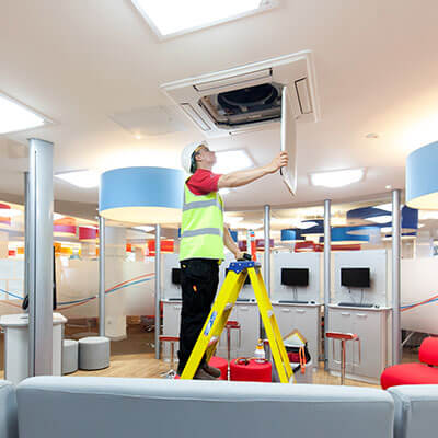 air con installation at burton college