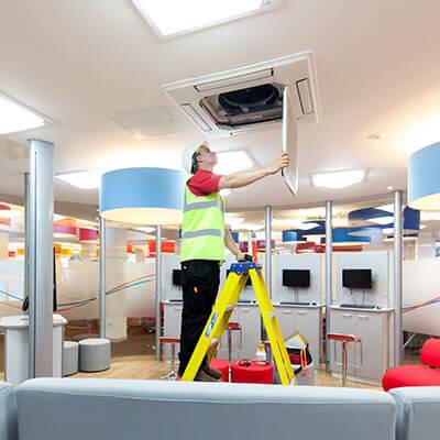 air con installation at burton college