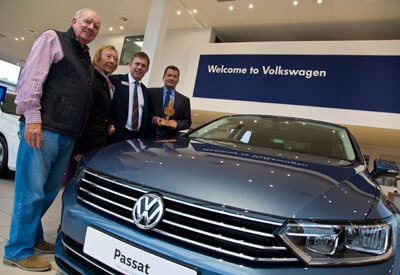 VW Car Dealership displays outstanding Customer Service to win Annual Award