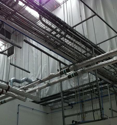 fire curtain installation