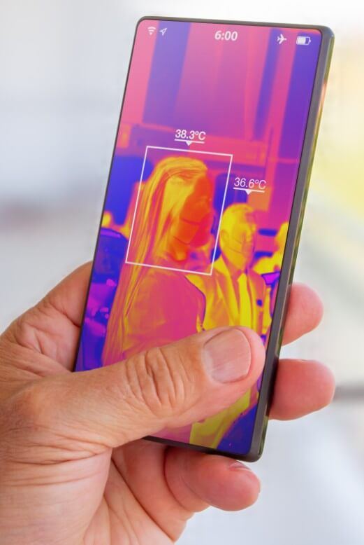 Temperature screening on smart phone